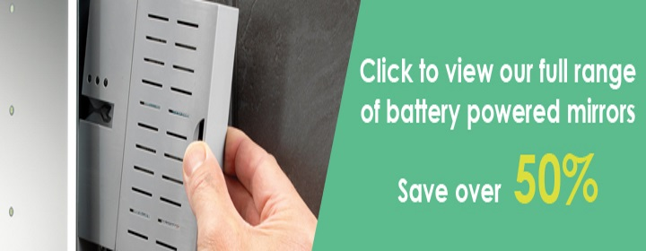 Bathroom Mirrors Range led bathroom mirrors battery powered - bella bathrooms blog