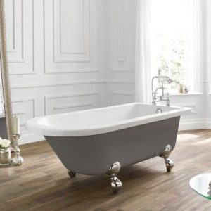 April Bentham Dove Grey Freestanding Bath