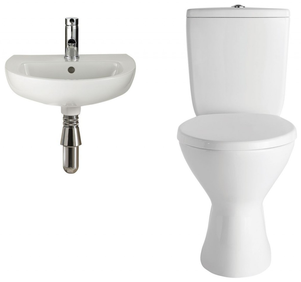 Bella Cloakroom Suite. Toilet and Basin sets to help achieve a professional look   Bella