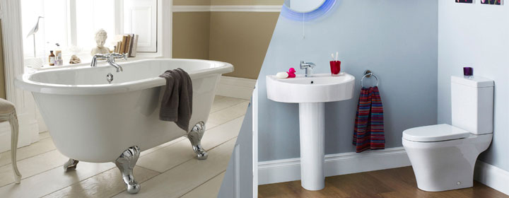 Modern bathroom design vs traditional bella bathrooms blog Traditional vs contemporary design
