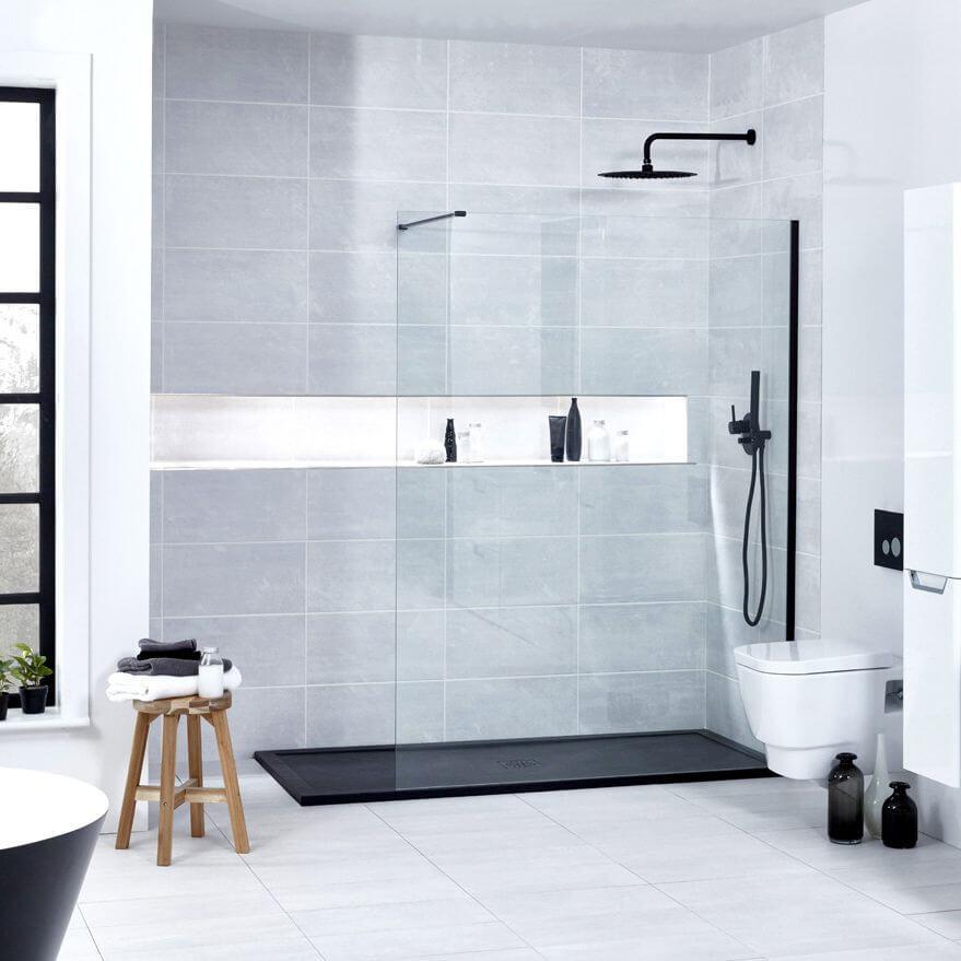 Frontline Aquaglass onyx wet room shower enclosure