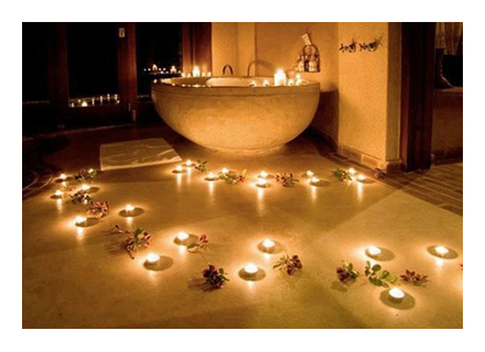 Create your own romantic spa bella bathrooms blog for Bathroom romance photos