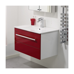 Creative Ultra Design Red Wall Mounted Cabinet From Bella Bathrooms