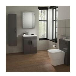 Hudson Reed Memoir Gloss Grey Bathroom Furniture