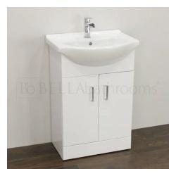 High Gloss White Vanity Unit 550