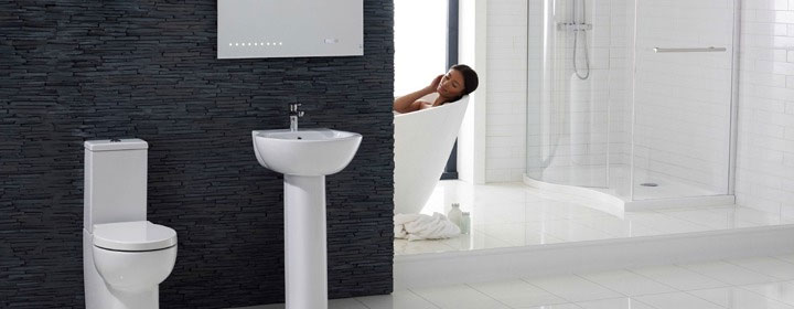 Modern Bathroom Suite Feature
