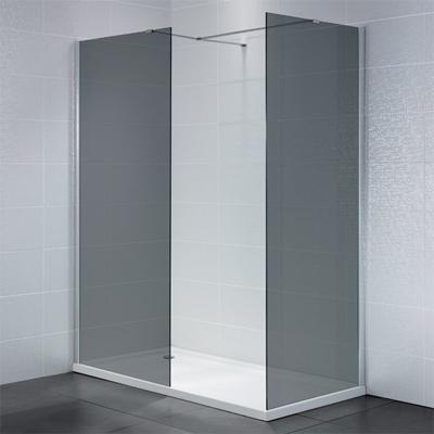 Identiti2 Smoked Glass Walk in Shower Enclosure