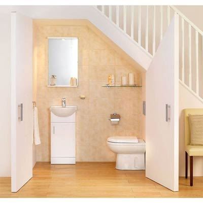 Cloakroom ideas cloakroom toilets bella bathrooms blog for Bathroom design under stairs