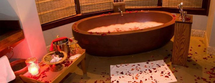 Creating a romantic spa for valentines