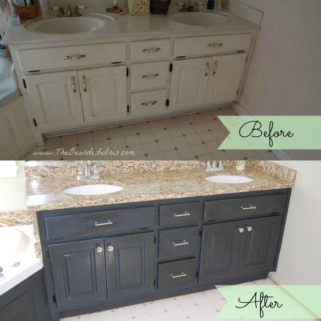 tips on how to paint your old vanity unit