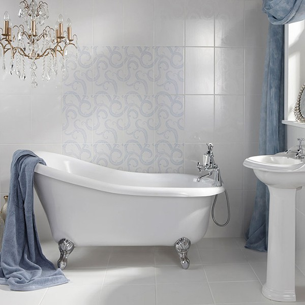 Spring refresh with these bathroom tiles for Spring bathroom ideas