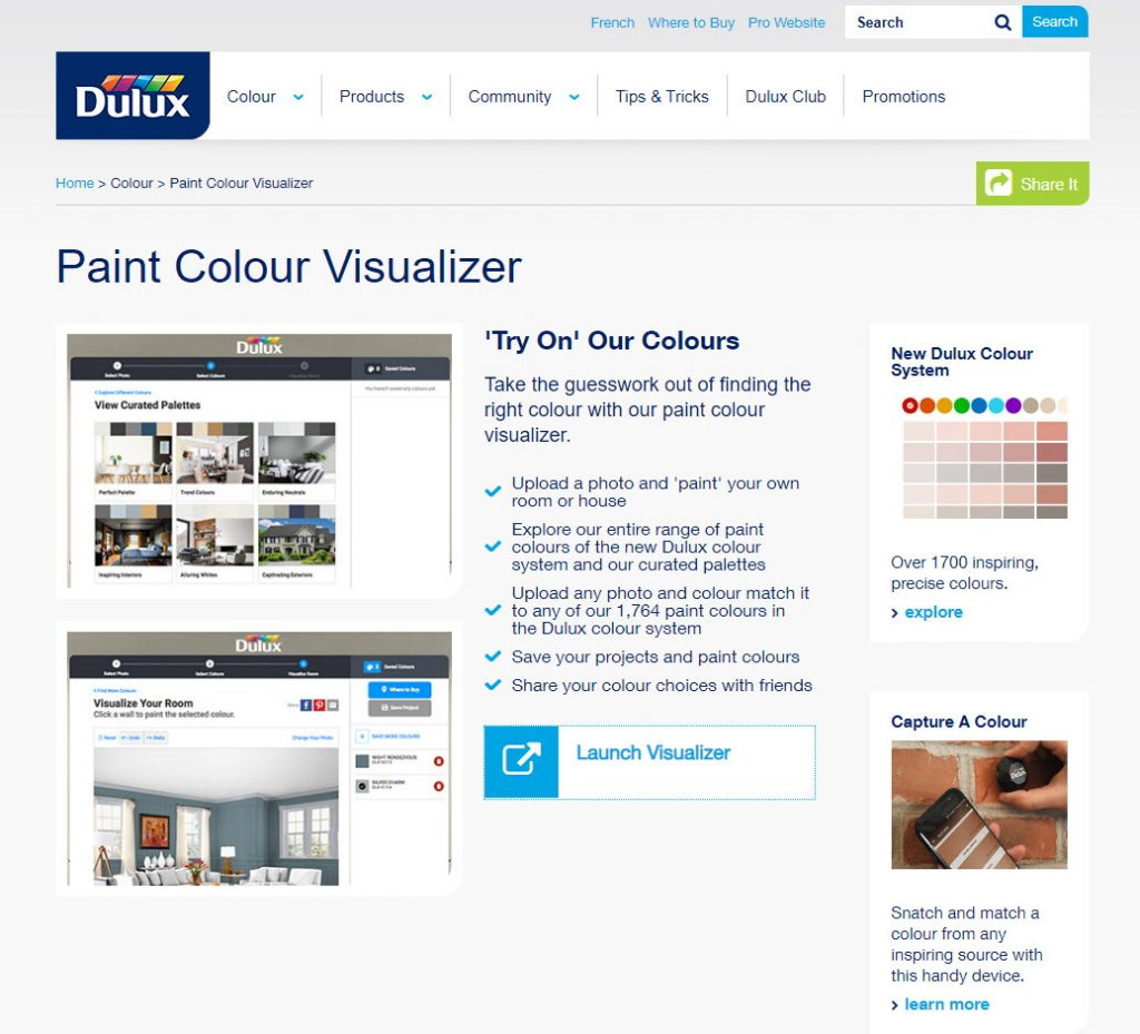 Choose the colour of your ensuite bathrooms using the Dulux colour visualizer