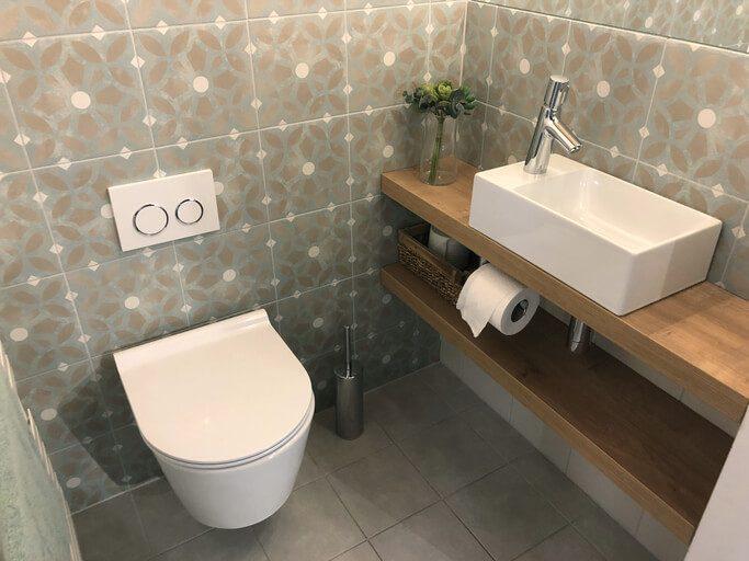 modern cloakroom bathroom