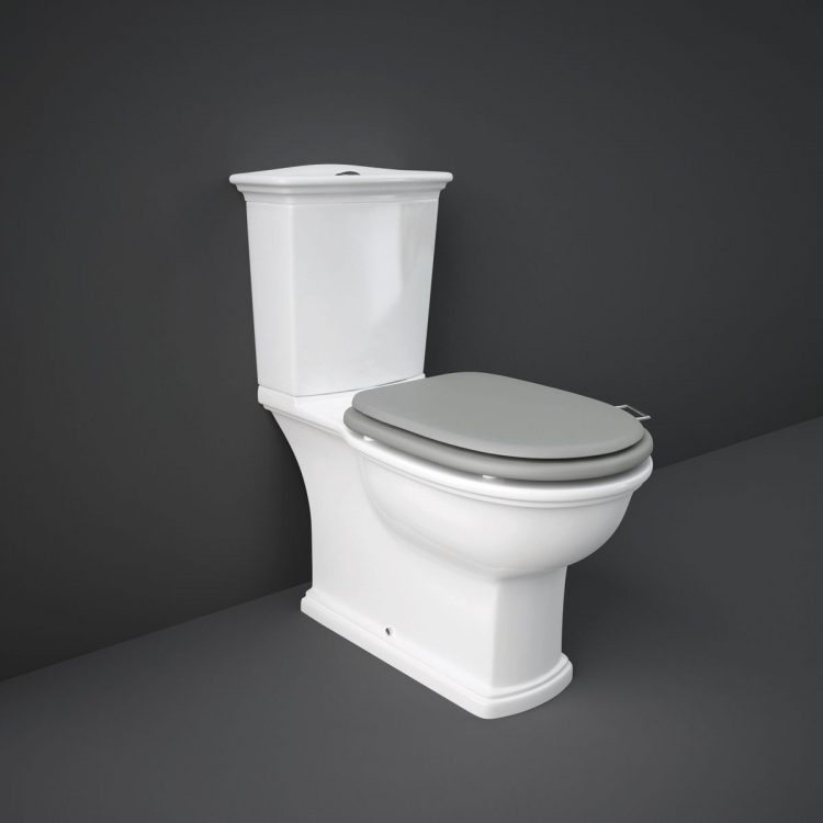 toilet with grey background