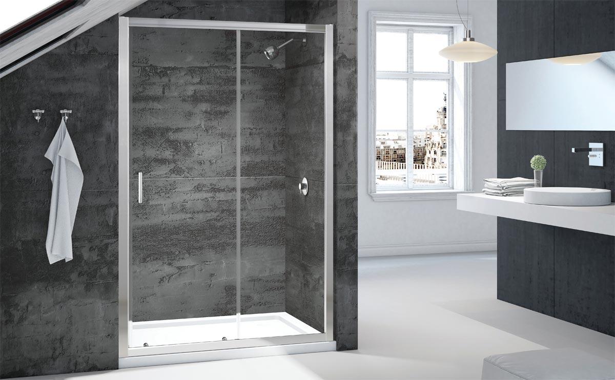 The best shower door in an alcove