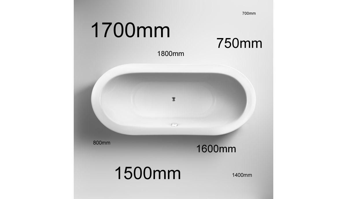 different bath dimensions