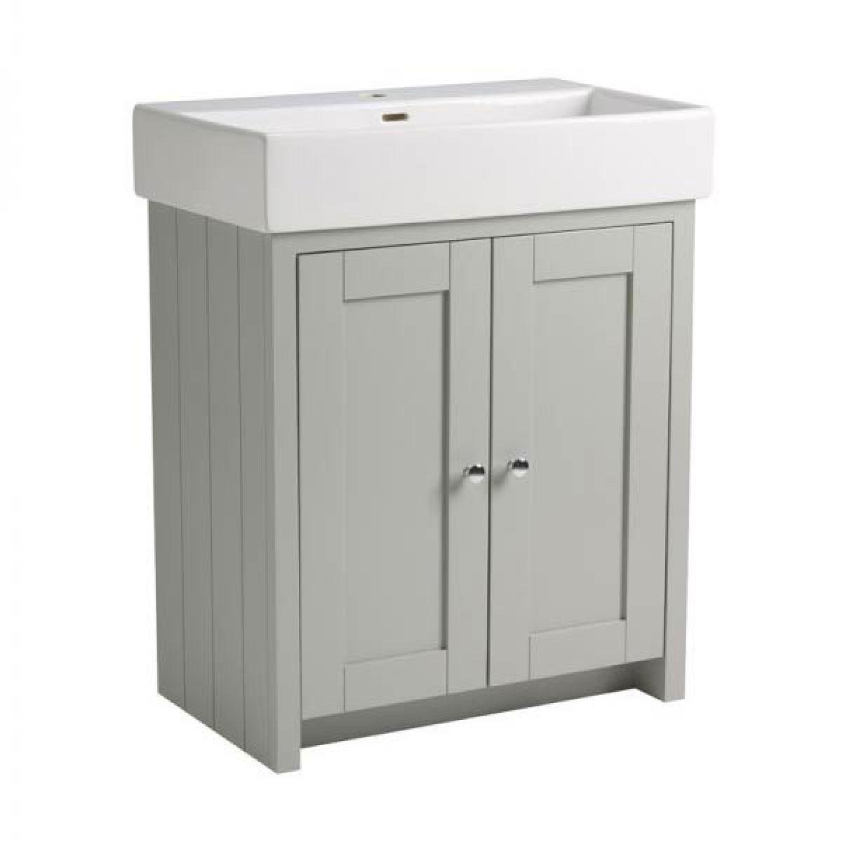 Tavistock Lansdown Pebble Grey Freestanding Vanity Unit 700mm