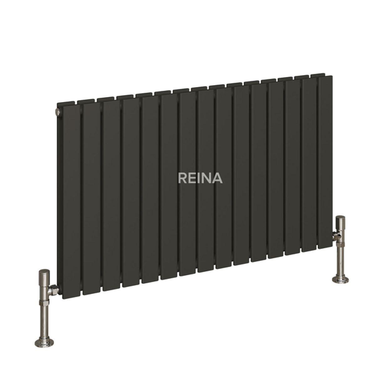 Reina Flat Anthracite Double Panel Designer Radiator 600 x 440mm