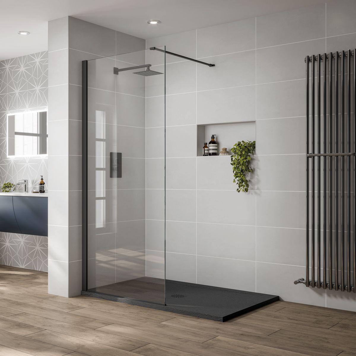 April Prestige Black Wet Room Shower Enclosure