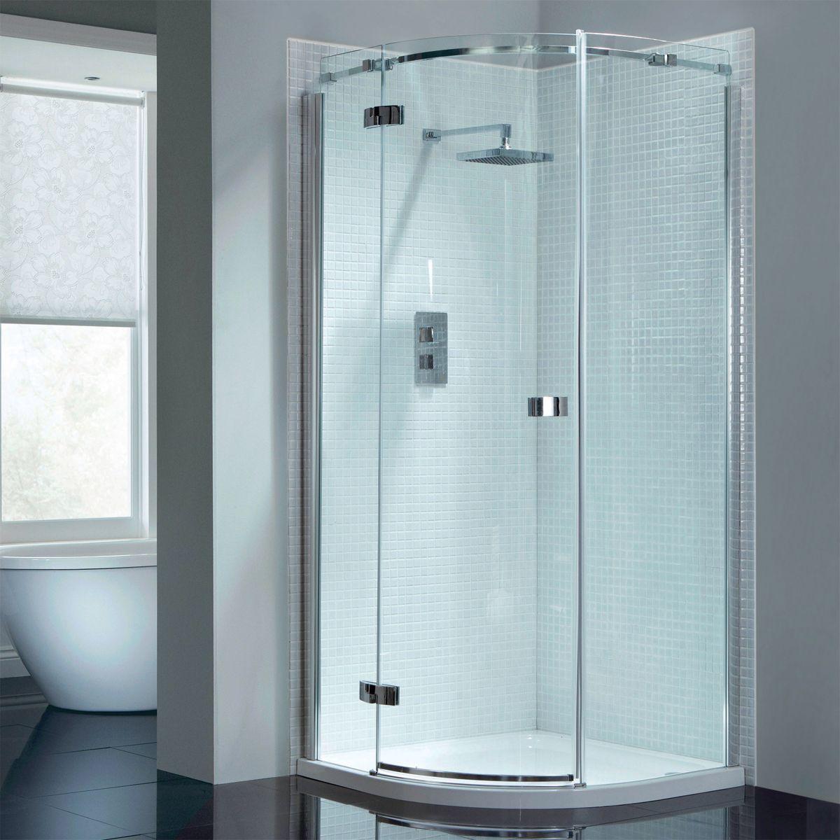 April Prestige2 Frameless Single Door Quadrant Shower Enclosure