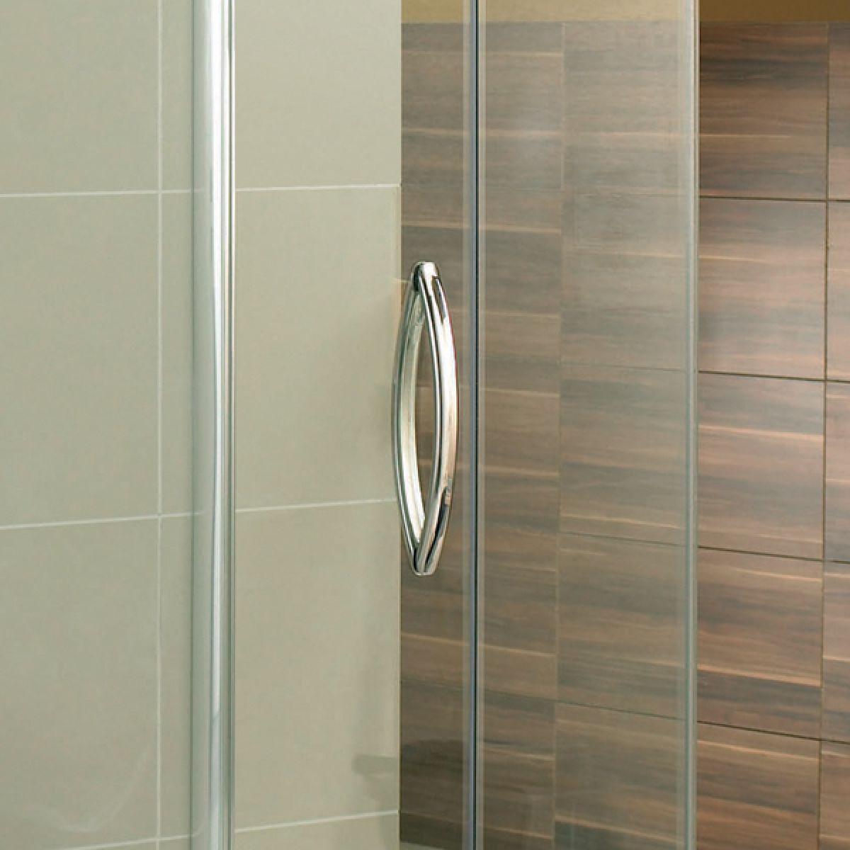 Aquadart Inline 3 Sided Hinged Door Shower Enclosure Detail 1