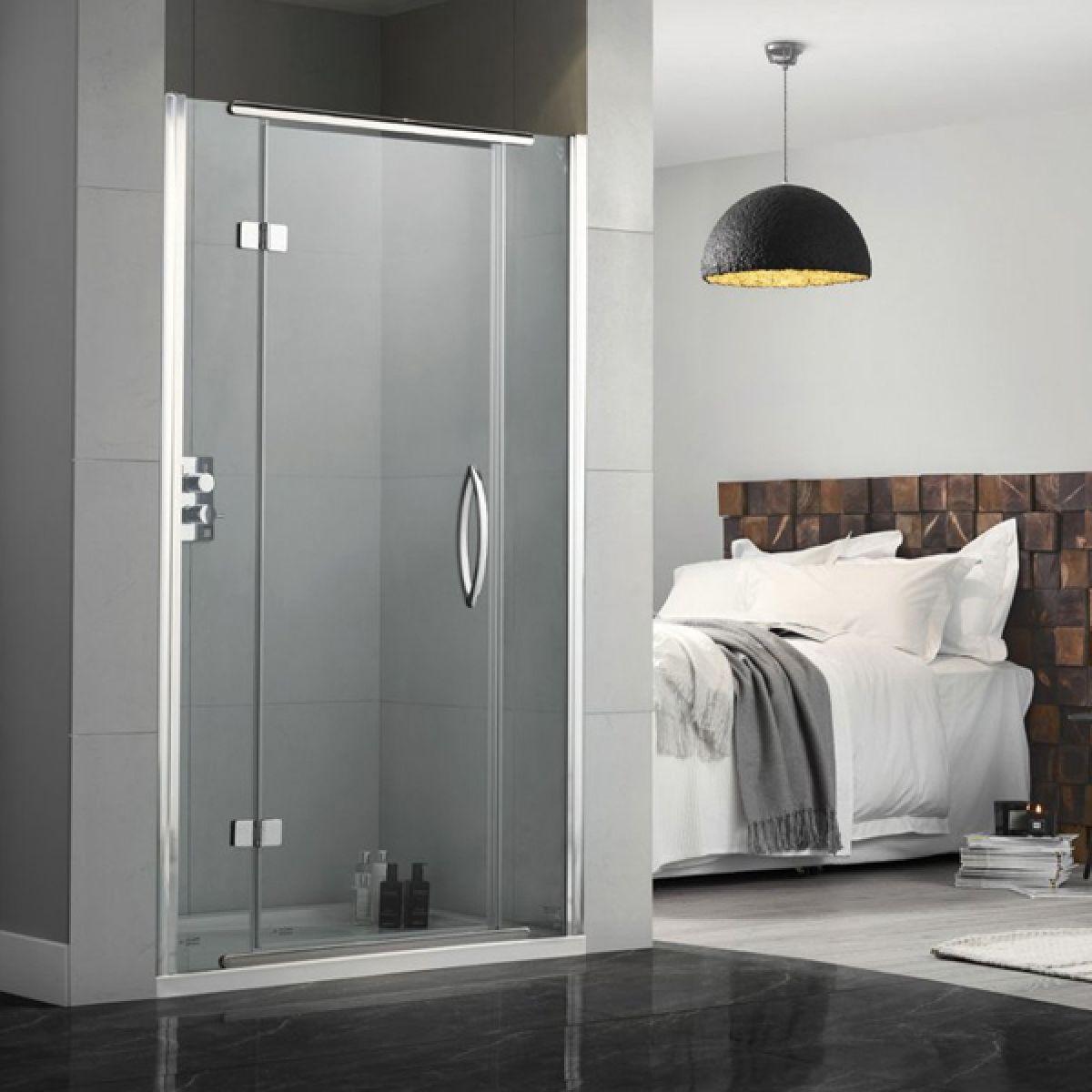 Aquadart Inline Hinged Recess Shower Door