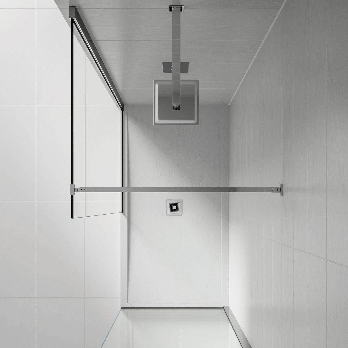 Aquadart White Slate Shower Tray 1100 x 800 Overhead