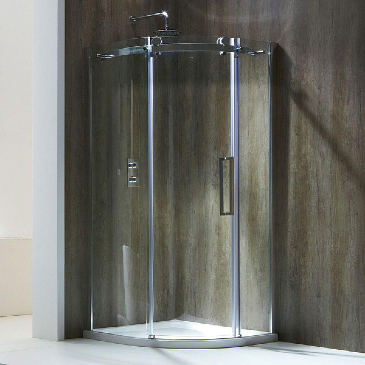 Frontline Aquaglass+ Single Door Offset Quadrant Shower Enclosure