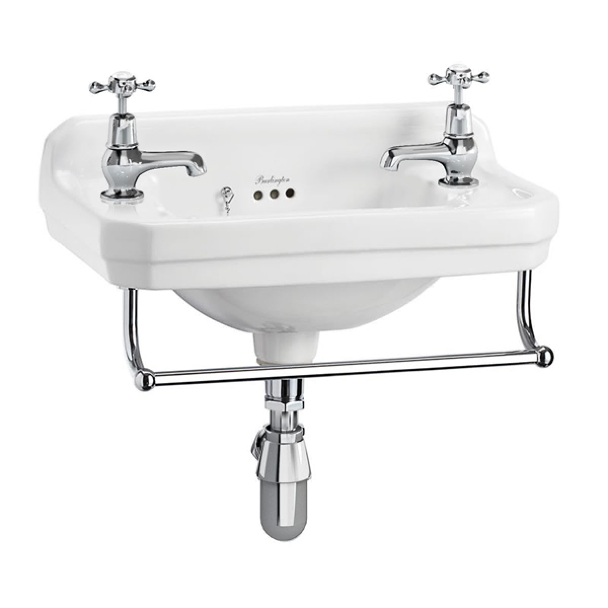 Burlington Edwardian Cloakroom Basin with Optional Towel Rail 510mm