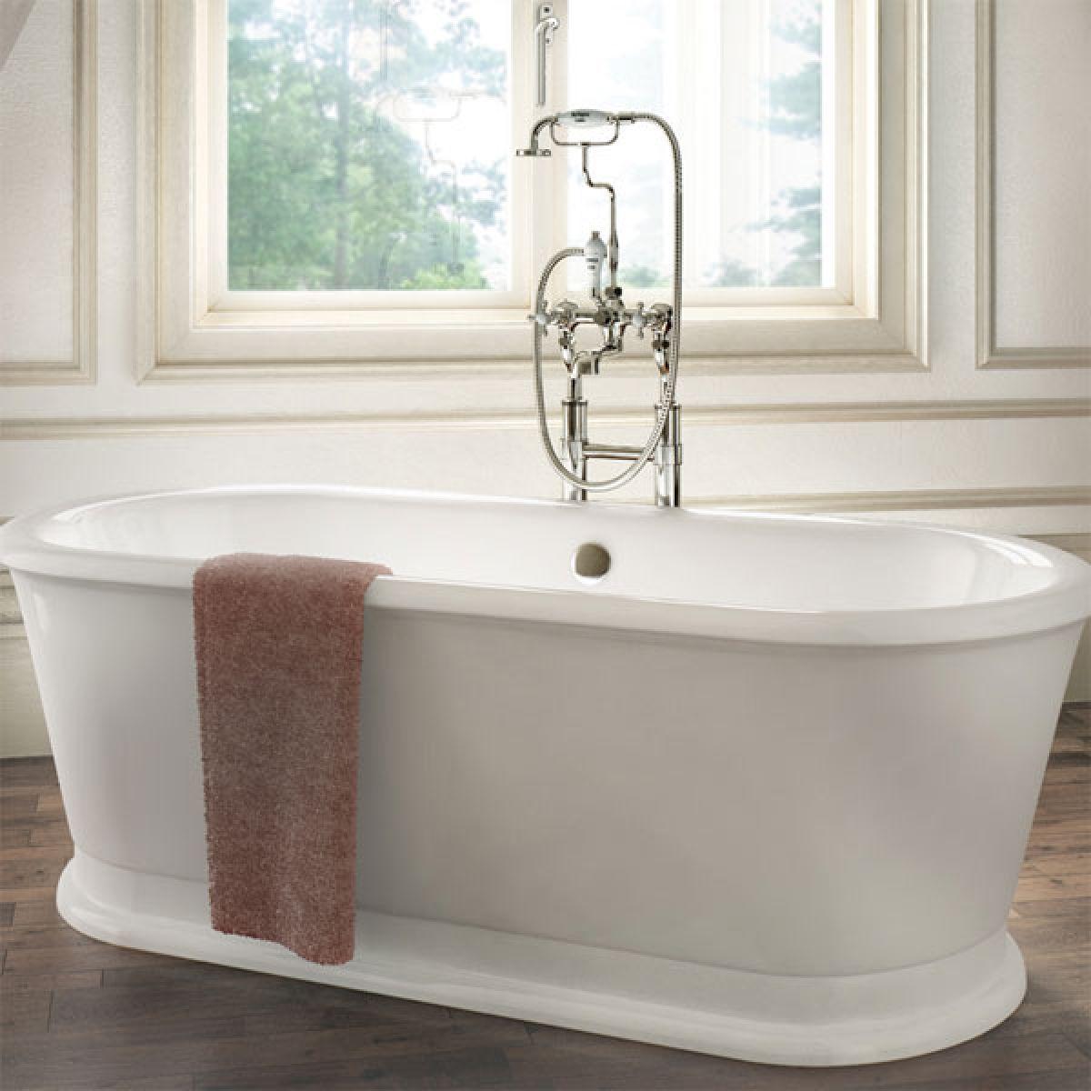 Burlington London Round Soaking Tub 1800mm Lifestyle