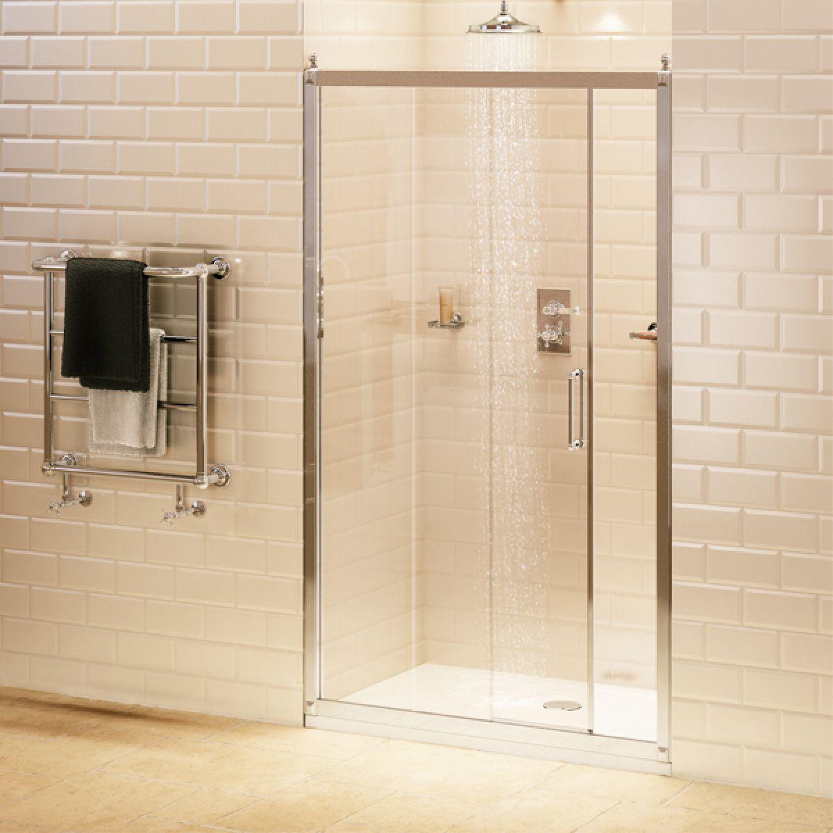 Burlington Sliding Door Shower Enclosure with Optional Inline Panel and Side Panel