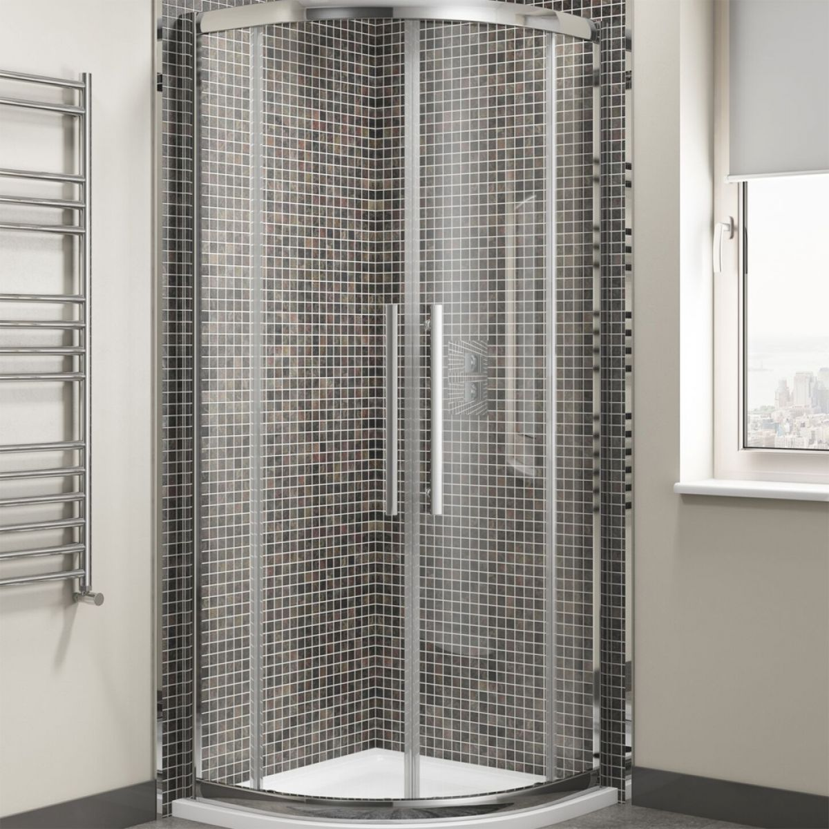 Cassellie Cass Eight Offset Quadrant Shower Enclosure