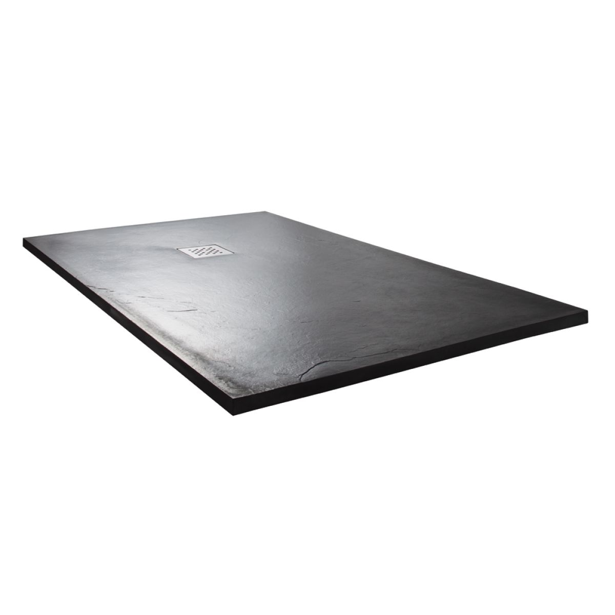 Cassellie Cass Stone Anthracite Slate Effect Rectangular Shower Tray 1200 x 900mm