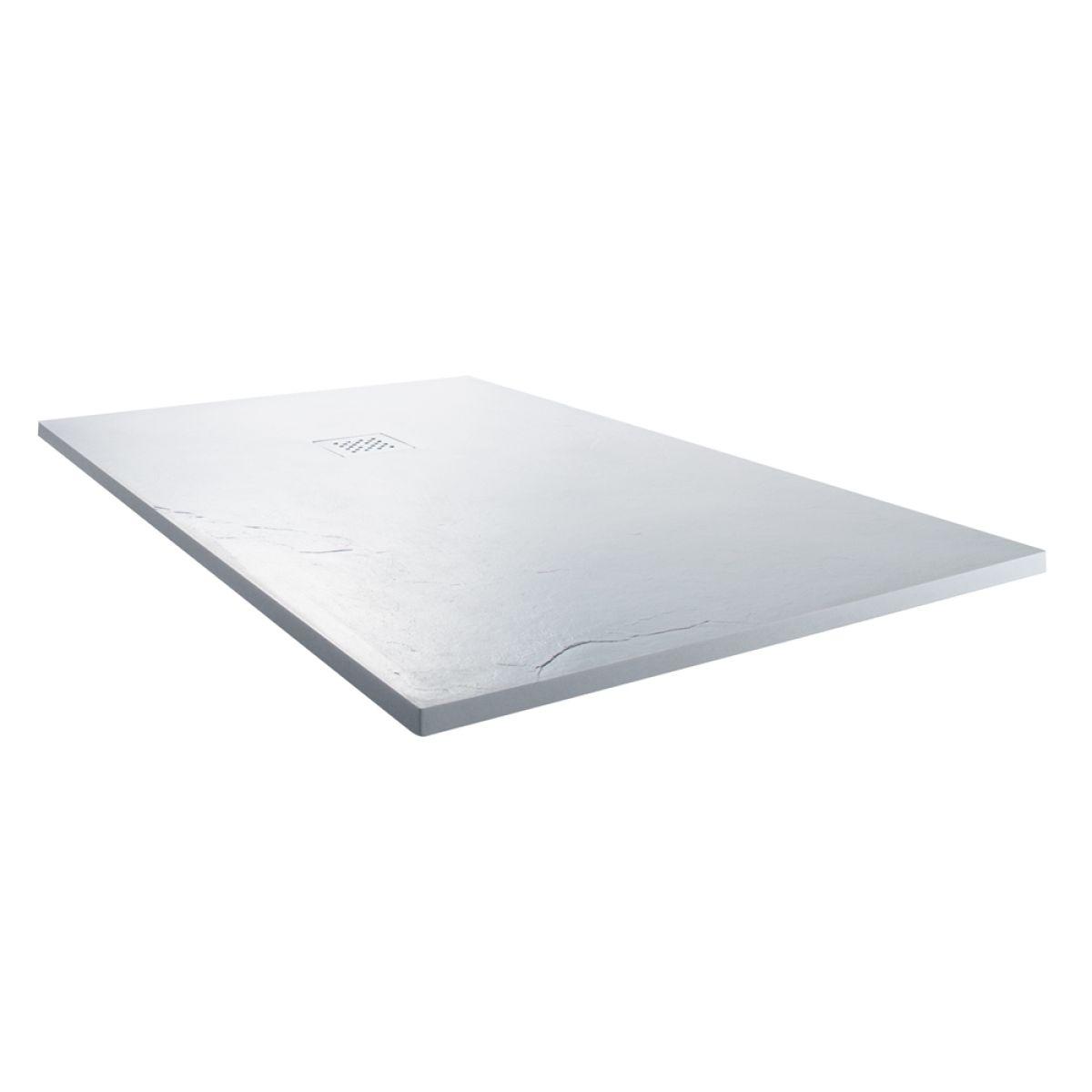 Cassellie Cass Stone White Slate Effect Rectangular Shower Tray 1700 x 900mm