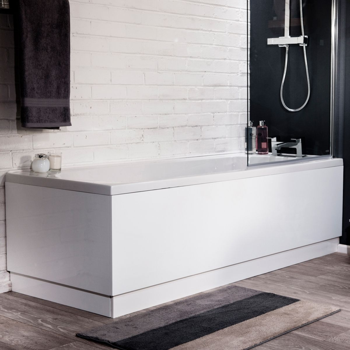 Cassellie High Gloss Adjustable Bath Panel 1700mm