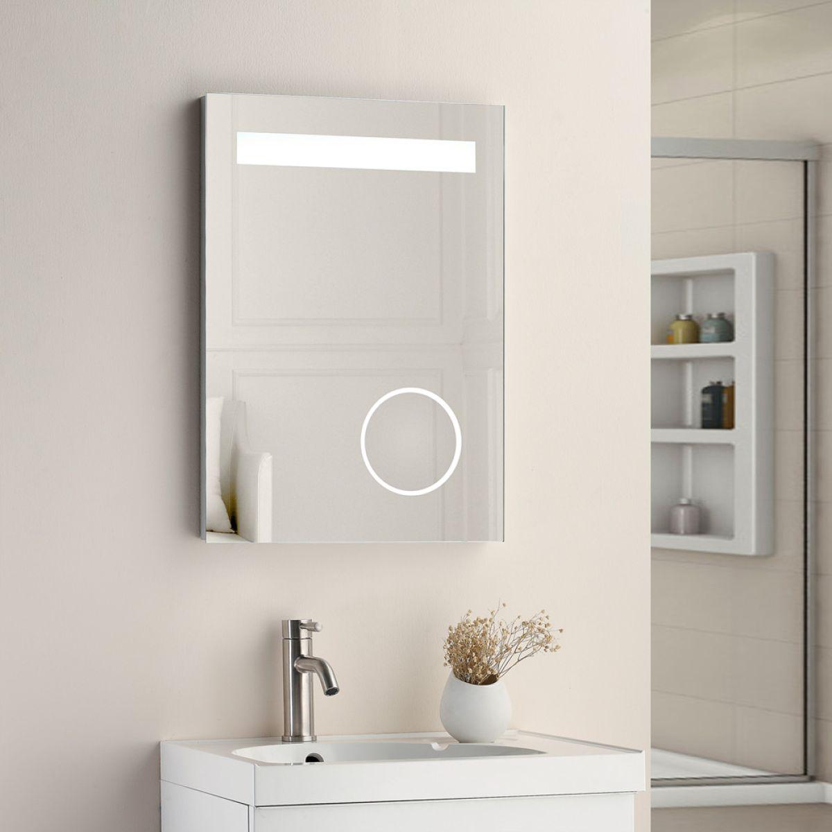 Cassellie Optic LED Bathroom Mirror Lifestyle