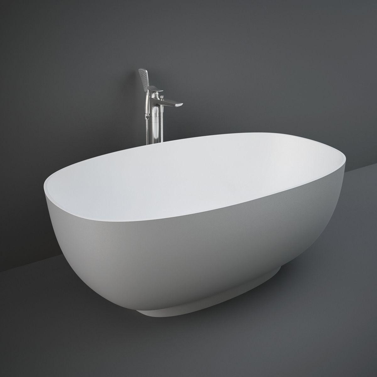 RAK Cloud Matt Grey Freestanding Bath 1400mm
