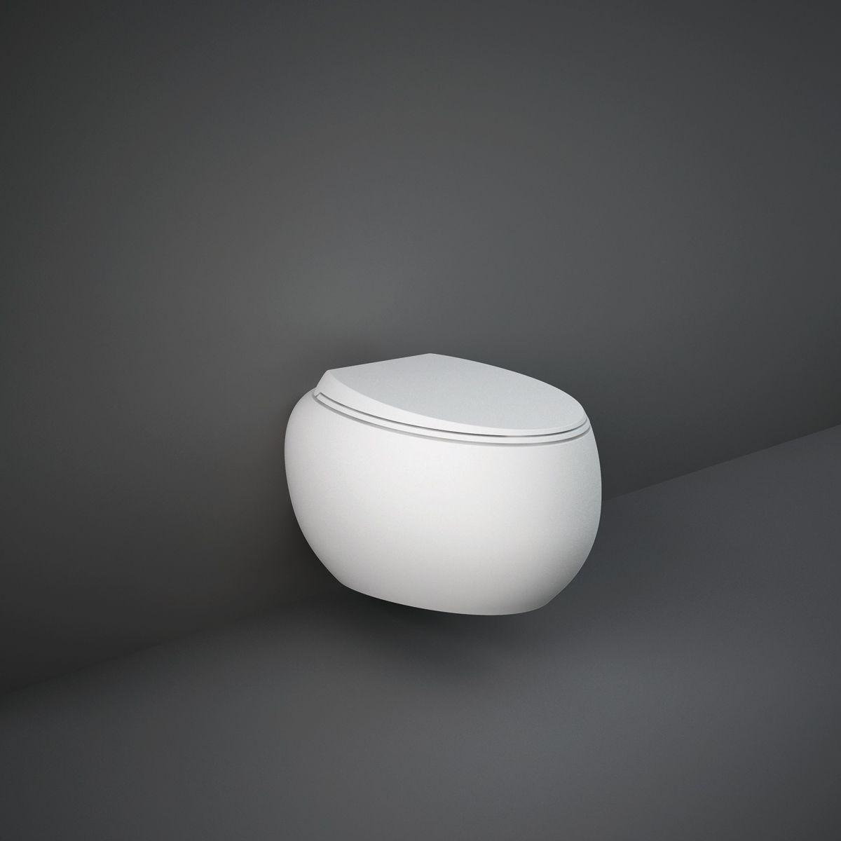 RAK Cloud Matt White Wall Hung Toilet with Soft Close Seat