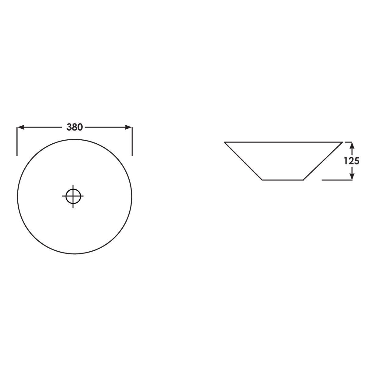 RAK Diana Wash Bowl 450mm Measurements