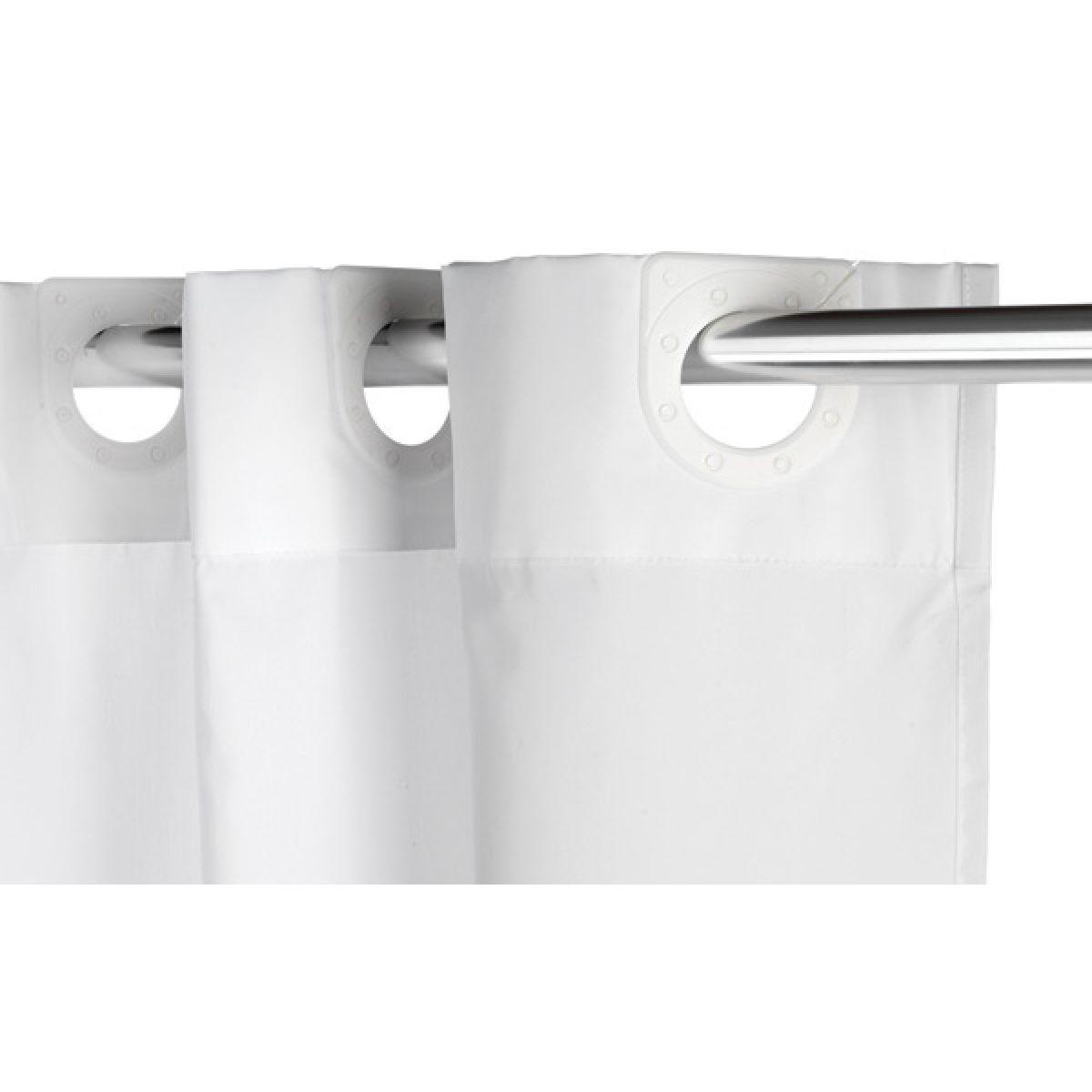 Croydex Textile White Hookless Shower Curtain Detail