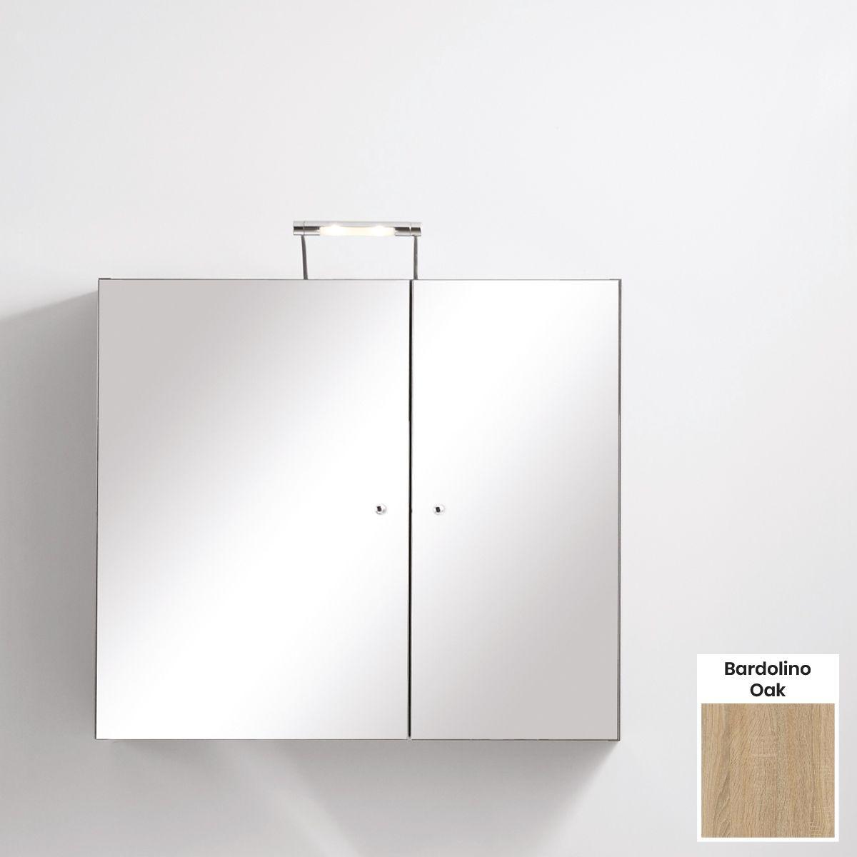 Elation Eko Bardolino Oak Mirror Wall Unit 750mm