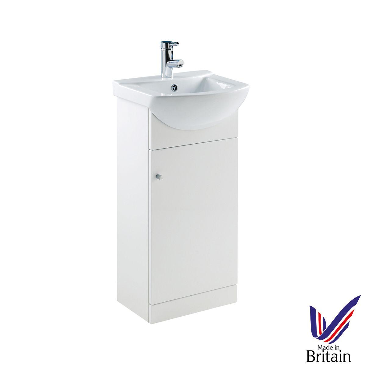 Ikoma White Gloss Vanity Unit with Basin 450mm