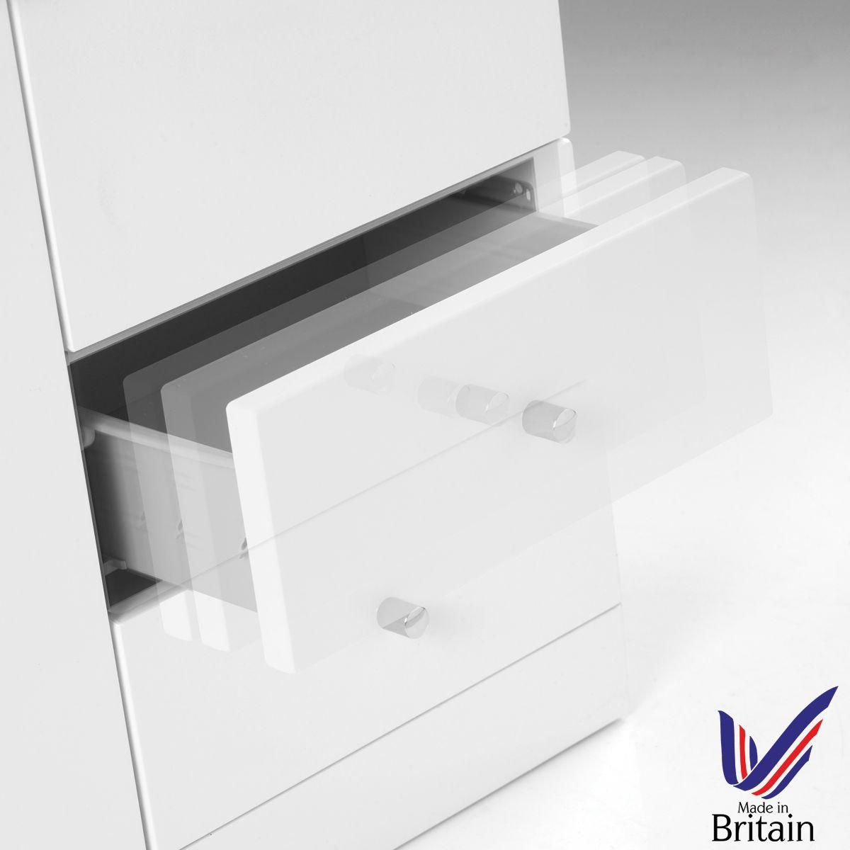 Ikoma White Gloss Vanity Unit with Basin 850mm Soft Close Drawer