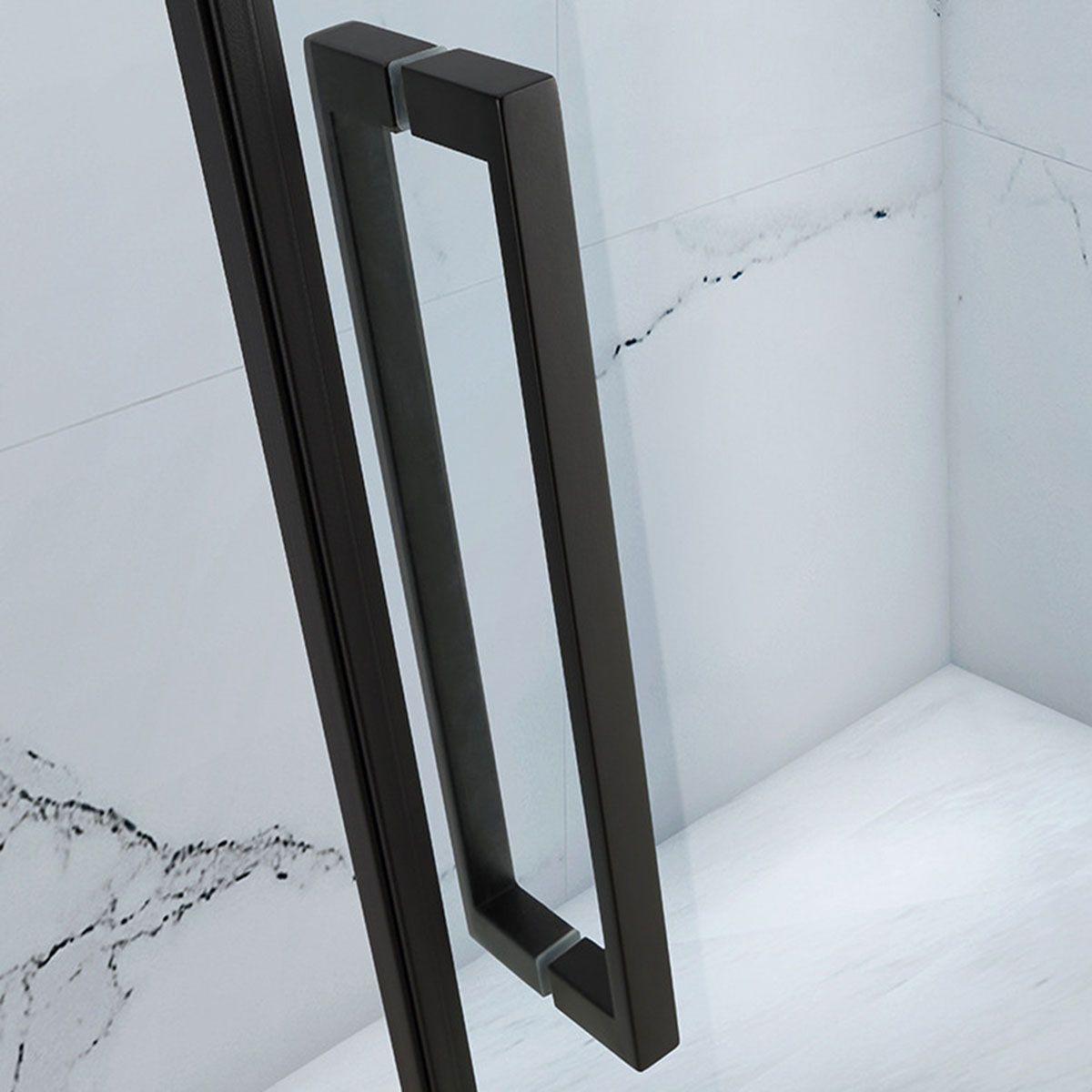 Frontline Aquaglass Onyx Black Hinged Shower Enclosure Handle