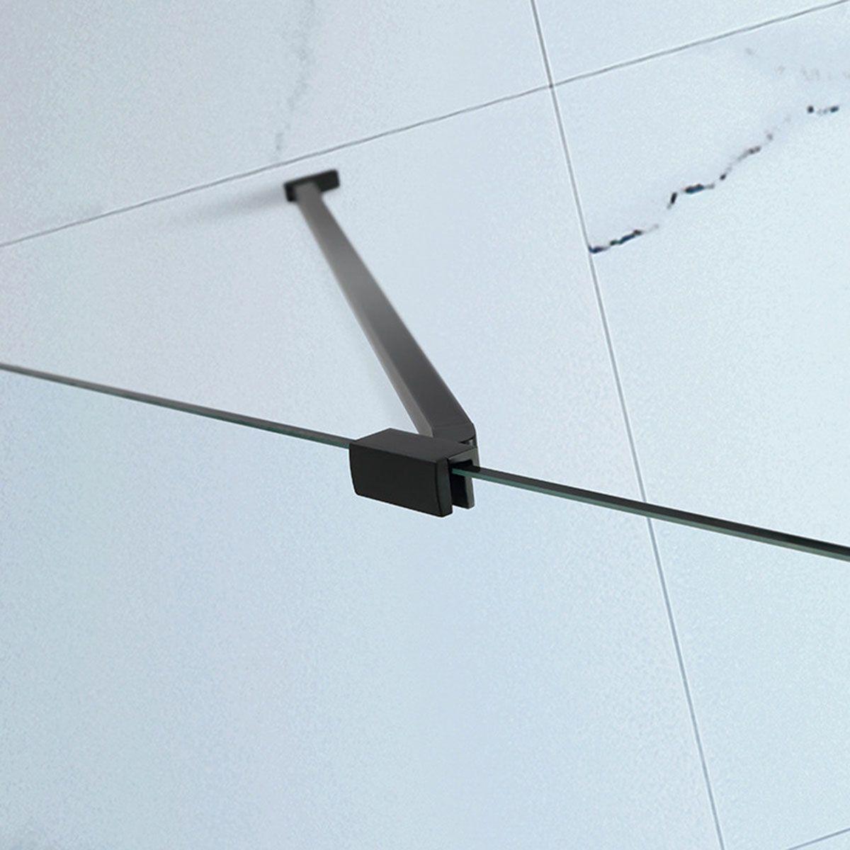 Frontline Aquaglass Onyx Black Hinged Shower Enclosure Support Arm