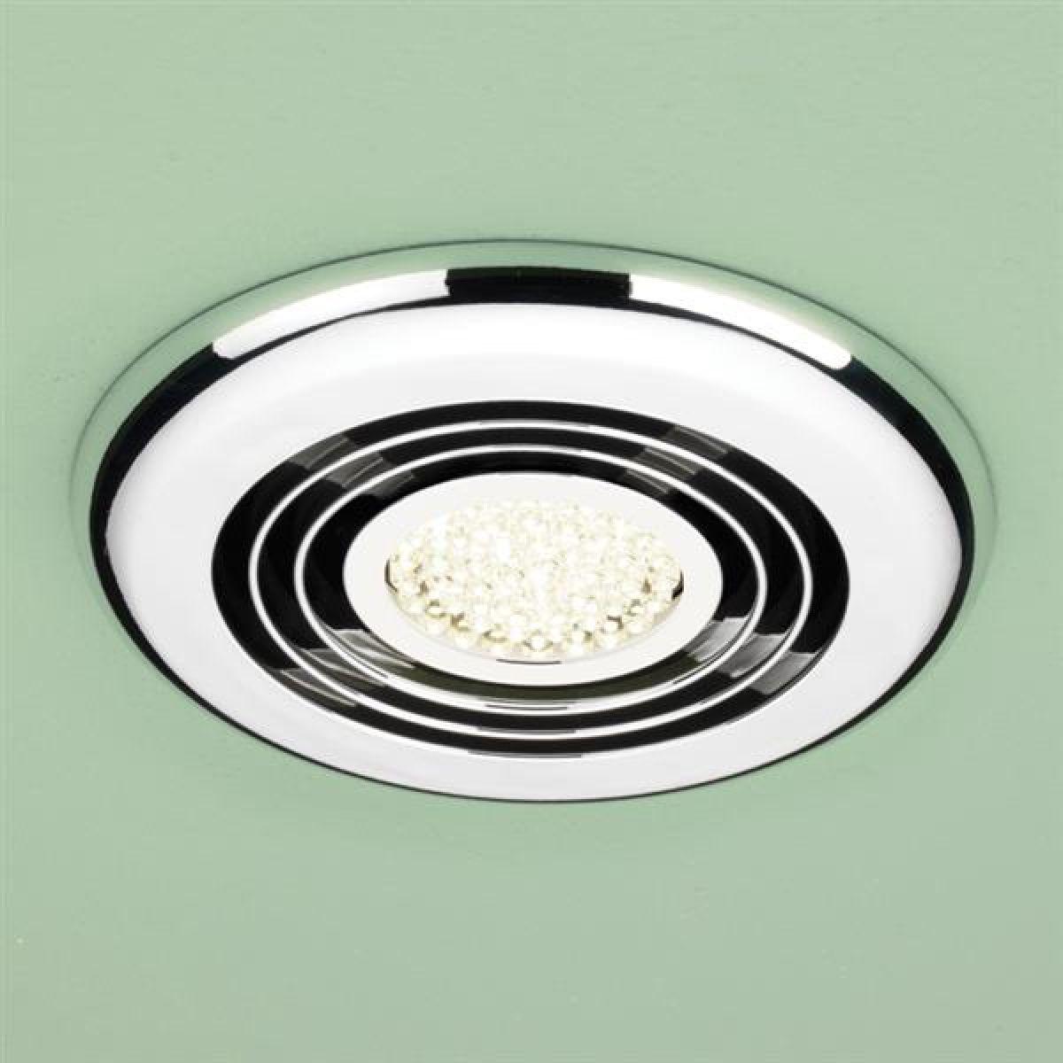 HiB Turbo Warm LED Inline Bathroom Extractor Fan in Chrome
