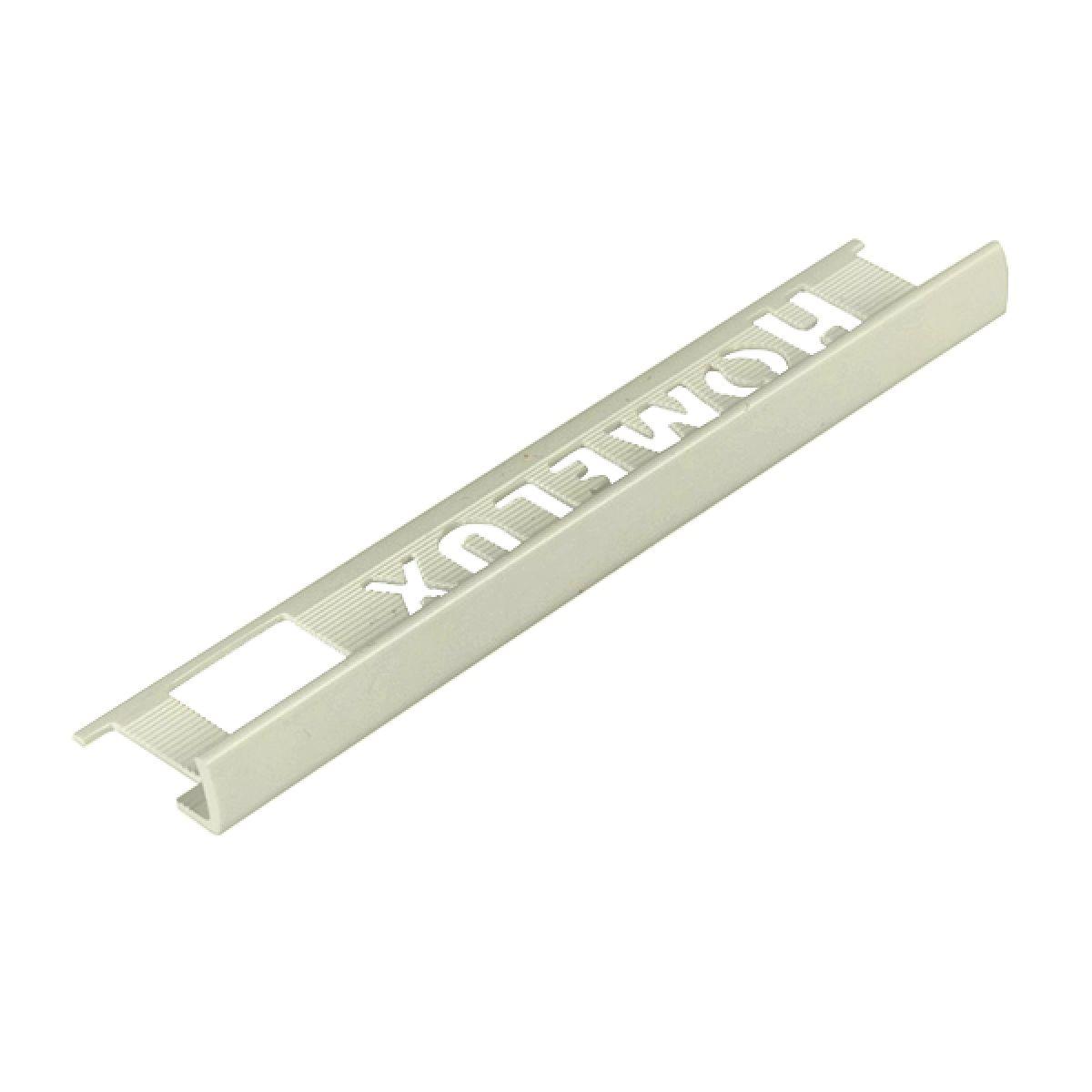 Homelux PVC Straight Edge 8mm Soft Cream Tile Trim 2.5m