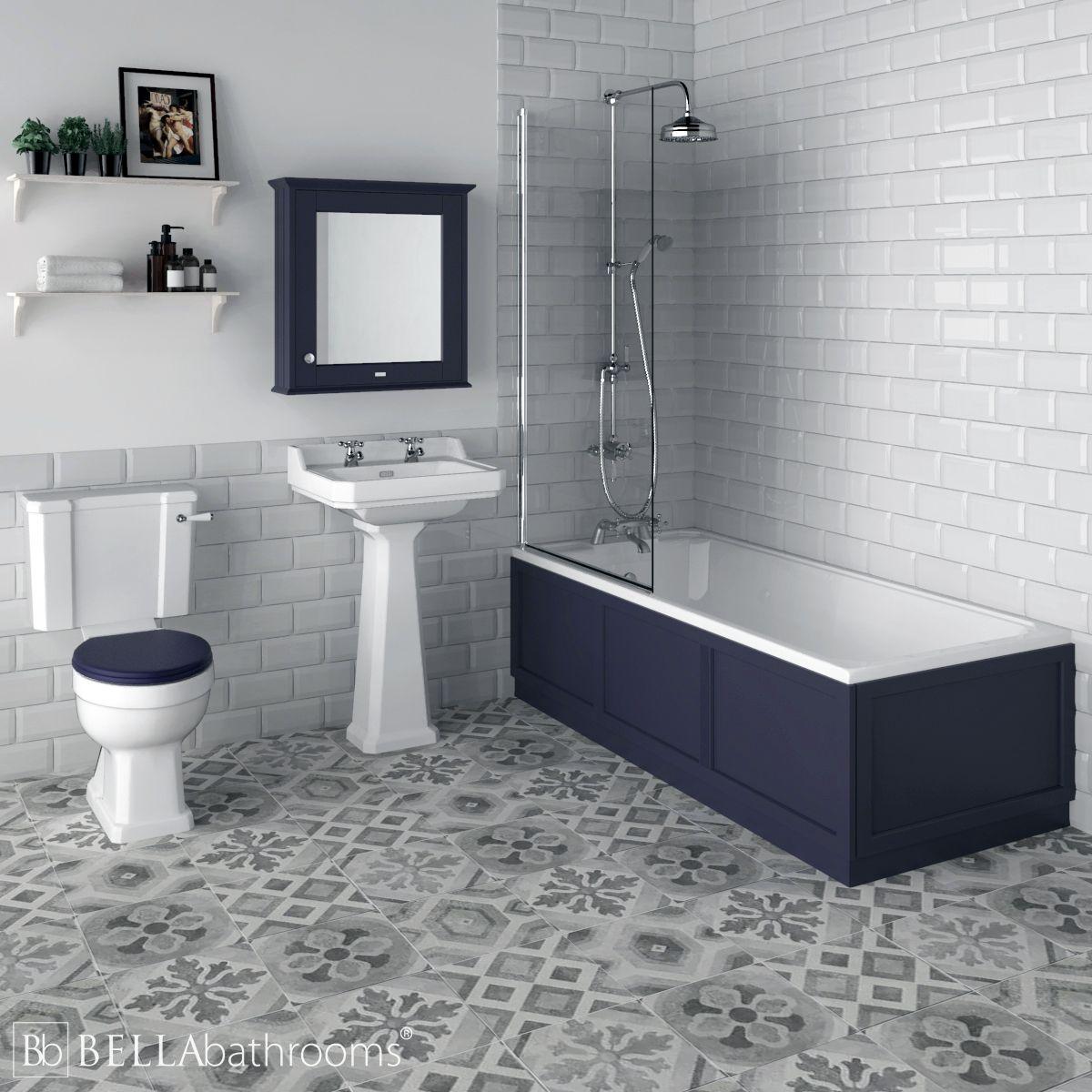 Hudson Reed Richmond Traditional Shower Bath Suite Twilight Blue