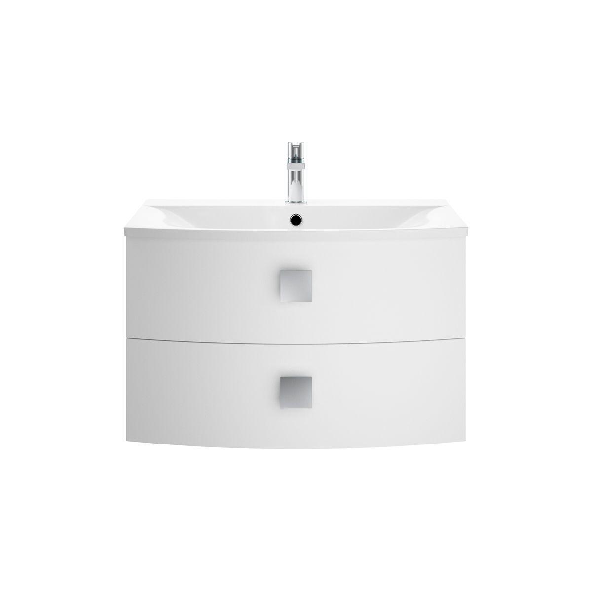 Hudson Reed Sarenna Moon White Vanity Unit 700mm
