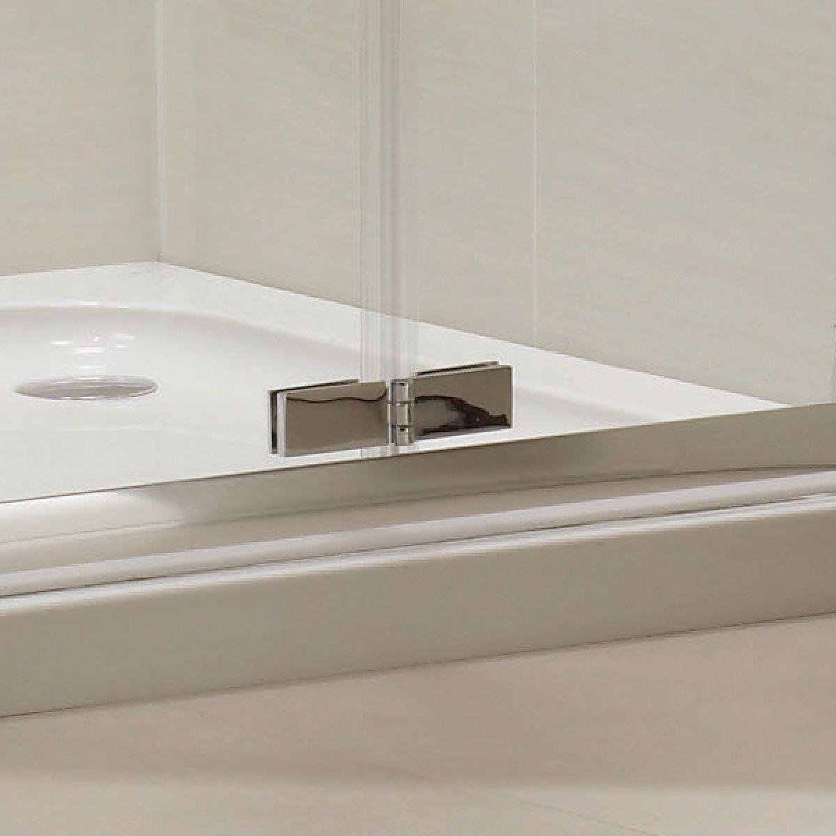 Identiti2 Bi-Fold Shower Door with Optional Side Panel Detail 2